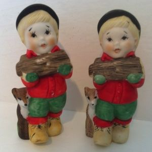 Other - Little Lumberjack Boy Salt & Pepper Shakers